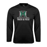 Performance Black Longsleeve Shirt-Track and Field