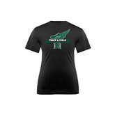 Youth Syntrel Performance Black Training Tee-Track & Field Side Shoe