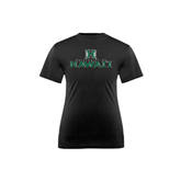 Youth Syntrel Performance Black Training Tee-Stacked University of Hawaii