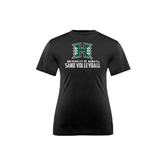 Youth Syntrel Performance Black Training Tee-Sand Volleyball