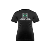 Youth Syntrel Performance Black Training Tee-Swimming & Diving