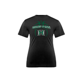 Youth Syntrel Performance Black Training Tee-Basketball In Ball