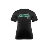 Youth Syntrel Performance Black Training Tee-Baseball Script