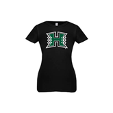 Youth Girls Black Fashion Fit T Shirt-Official Logo