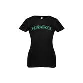 Youth Girls Black Fashion Fit T Shirt-Hawaii Arch