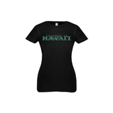 Youth Girls Black Fashion Fit T Shirt-University Of Hawaii