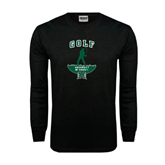 Black Long Sleeve TShirt-Golf Arched With Player