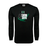 Black Long Sleeve TShirt-Swim and Dive Swimmer