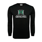 Black Long Sleeve TShirt-Sand Volleyball