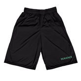 Russell Performance Black 10 Inch Short w/Pockets-Hawaii