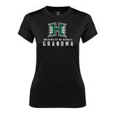 Ladies Syntrel Performance Black Tee-Grandma