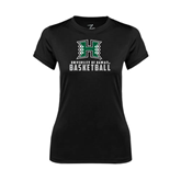 Ladies Syntrel Performance Black Tee-Basketball