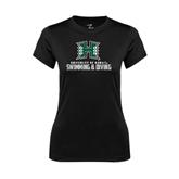 Ladies Syntrel Performance Black Tee-Swimming & Diving