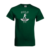 Dark Green T Shirt-Golf Arched With Player