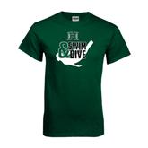 Dark Green T Shirt-Swim and Dive Swimmer