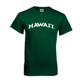 Dark Green T Shirt-Hawaii Arch