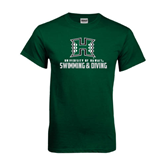 Dark Green T Shirt-Swimming & Diving