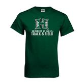 Dark Green T Shirt-Track and Field