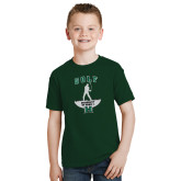Youth Dark Green T Shirt-Golf Arched With Player
