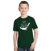 Youth Dark Green T Shirt-Swim and Dive Swimmer