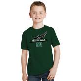 Youth Dark Green T Shirt-Track & Field Side Shoe