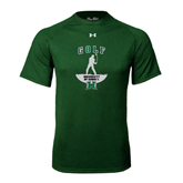 Under Armour Dark Green Tech Tee-Golf Arched With Player