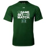 Under Armour Dark Green Tech Tee-Tennis Game Set Match