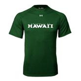 Under Armour Dark Green Tech Tee-University Of Hawaii