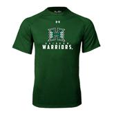 Under Armour Dark Green Tech Tee-Stacked Rainbow Warriors