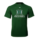 Under Armour Dark Green Tech Tee-Volleyball