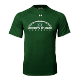 Under Armour Dark Green Tech Tee-Football Arched