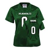 Ladies Dark Green Replica Football Jersey-personalized