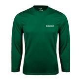 Performance Dark Green Longsleeve Shirt-Hawaii