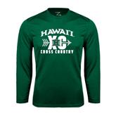 Performance Dark Green Longsleeve Shirt-Cross Country XC