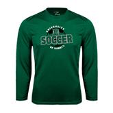 Performance Dark Green Longsleeve Shirt-Soccer Circle