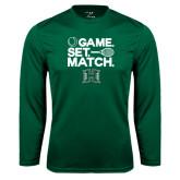 Performance Dark Green Longsleeve Shirt-Tennis Game Set Match