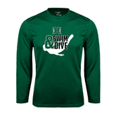 Performance Dark Green Longsleeve Shirt-Swim and Dive Swimmer