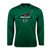 Performance Dark Green Longsleeve Shirt-Track & Field Side Shoe