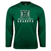 Performance Dark Green Longsleeve Shirt-Grandpa