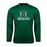 Performance Dark Green Longsleeve Shirt-Sand Volleyball
