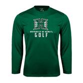 Performance Dark Green Longsleeve Shirt-Golf