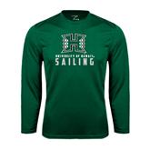 Performance Dark Green Longsleeve Shirt-Sailing