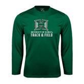 Performance Dark Green Longsleeve Shirt-Track and Field