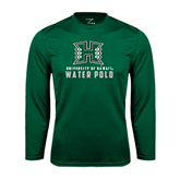 Performance Dark Green Longsleeve Shirt-Water Polo