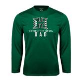 Performance Dark Green Longsleeve Shirt-Dad