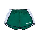 Ladies Dark Green/White Team Short-Hawaii