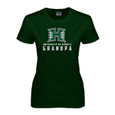 Ladies Dark Green T Shirt-Grandma