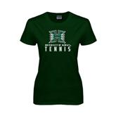 Ladies Dark Green T Shirt-Tennis