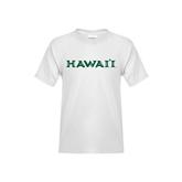 Youth White T Shirt-Hawaii