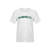Youth White T Shirt-Hawaii Arch